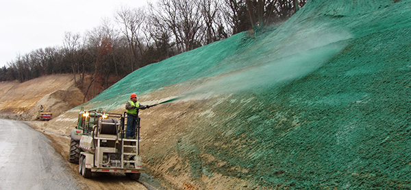 hydraulically applied erosion control